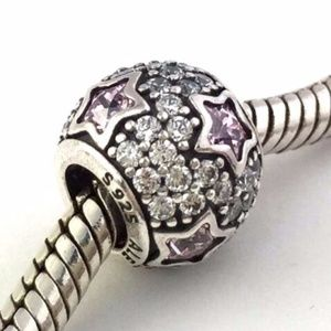 PANDORA Follow The Stars Midnight Pink Silver Bead